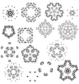 Snowflakes Set Christmas snowflakes vector image vector image