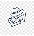 spy concept linear icon isolated on transparent vector image
