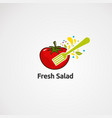 tomato abstract fresh salad logo icon element vector image vector image