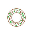 tree branch in circle icon design template vector image vector image