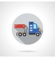 Truck without trailer round flat color icon vector image vector image