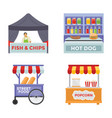 vendor foods flat icons vector image