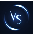 versus letters luminous logo neon v and s flat vector image vector image