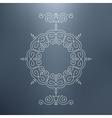 Vintage Swirl Ornament Decoration Badges vector image vector image