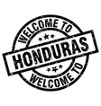 welcome to honduras black stamp vector image vector image
