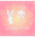 white easter bunny climber vector image vector image