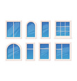 windows architectural glass object window rame vector image