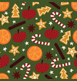 winter christmas spices seamless pattern vector image