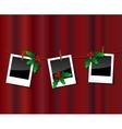 Christmas photo scrapebook vector image