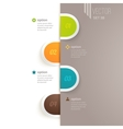 Infographics elements with options and vector image