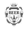 Beer label design with icons and objects vector image
