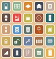 House related flat icons on orange background vector image