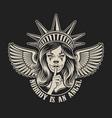 a girl in statue liberty headwear vector image vector image