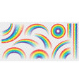 abstract realistic colorful rainbow with shiny vector image vector image
