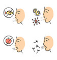 allergies color icons set vector image
