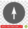 Arrow Axis Y Round Eps Icon vector image vector image