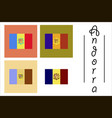 assembly of flat icons on theme flag of andorra vector image vector image