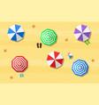 beach sun umbrellas flip-flops vector image vector image