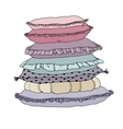 Beautiful pillows on a white background isolated vector image vector image