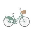 Bicycle in flat style vector image vector image