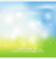 blurry background spring or summer blue sky with vector image vector image