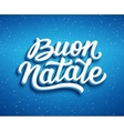 Buon Natale text Christmas greeting card design vector image vector image