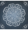 Chalkboard ornament vector image vector image