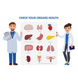 check your internal organs health poster including vector image vector image