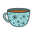 chocolate cup snowflakes decoration merry vector image vector image