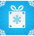 christmas postcard gift 1 vector image