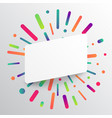 clean and colorful template for advertising with vector image vector image