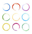 colored circle shapes abstract round frames vector image vector image
