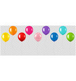 colorful balloon collection isolated transparent vector image vector image