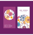 colorful oriental flowers vertical round vector image vector image