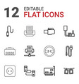 cord icons vector image vector image