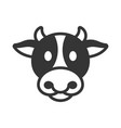 cow animal head icon vector image
