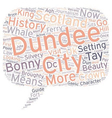 Dundee History And Guide text background wordcloud vector image vector image
