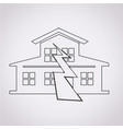 earthquake symbol icon vector image vector image