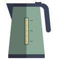 electric kettle icon flat isolated vector image