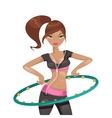Exercise with a hoop vector image