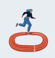 fast run female runner vector image