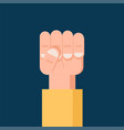 fist hand up freedom solidarity uprising icon vector image vector image