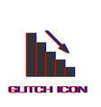 graph down icon flat vector image vector image