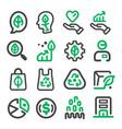green marketing icon vector image vector image