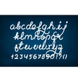 Handwritten alphabet set vector image