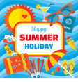 Happy summer holiday - creative banner vector image vector image