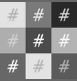 Hashtag sign grayscale