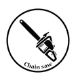 Icon of chain saw vector image vector image