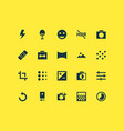image icons set with timelapse tune vector image