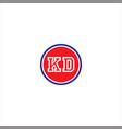 k d letter logo icon design vector image vector image